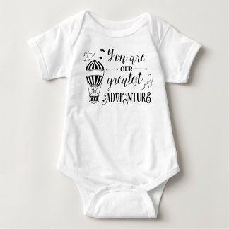 you are our greatest adventure baby shirt one piec
