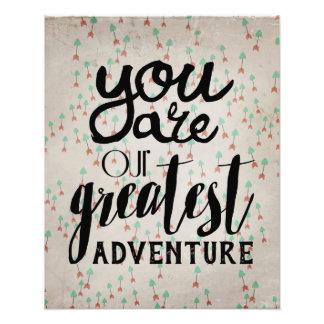 You Are Our Greatest Adventure Nursery Art Photograph