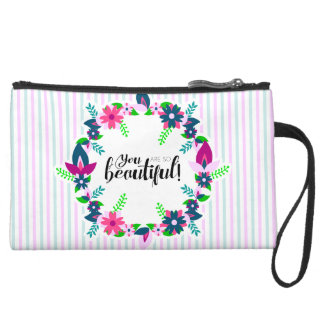 You are so Beautiful! Suede Wristlet