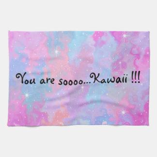 You are so Kawaii Inscription Pastel Magical Tea Towel