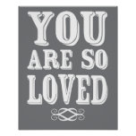You Are So Loved Poster Nursery Wall Print