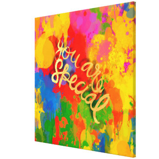You are special, drip paint WOW colors splash fun Canvas Prints