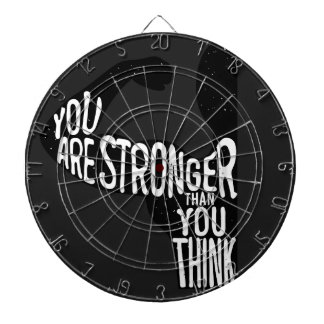 You Are Stronger Than You Think Dartboard