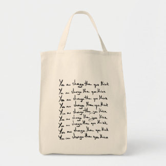 You are STRONGER than you think! Grocery Tote Bag