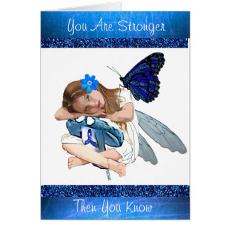 You are Stronger Then You Know CFS Angel Fairy Card