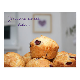You are sweet cherry muffin cupcakes postcard