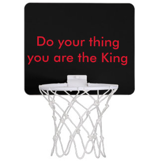 You are the king mini basketball hoop