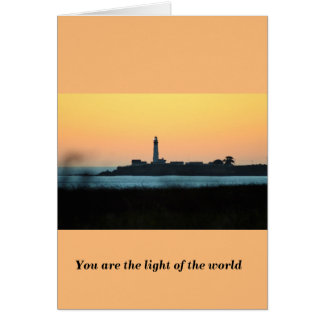 You are the Light of the world Card selection