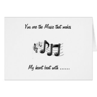 """""""YOU ARE THE MUSIC"""" HAPPY ANNIVERSARY CARD"""
