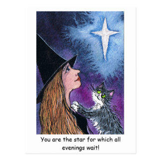 You are the star for which all evenings w... postcard