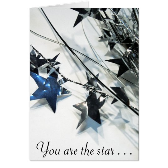 You are the star! notecard