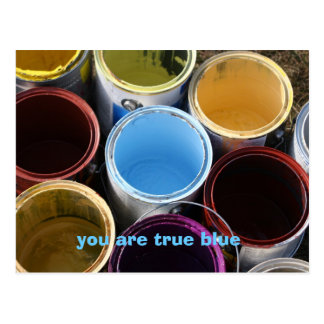 you are true blue postcard