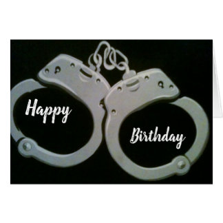 """****YOU ARE UNDER ARREST*** ADULT """"BIRTHDAY"""" HUMOR CARD"""