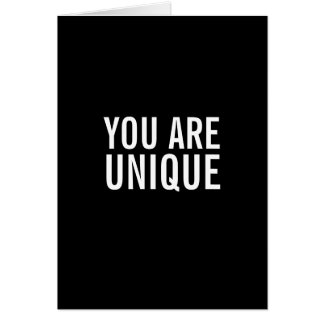 You Are Unique Funny Greeting Card