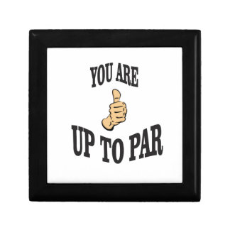 you are up to par small square gift box