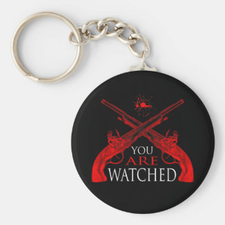 You Are Watched Basic Round Button Key Ring