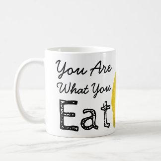You Are What You Eat Lemon Coffee Mug