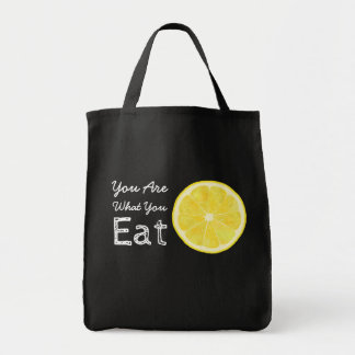 You Are What You Eat Lemon Tote Bag