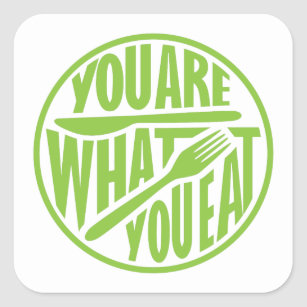 You Are What You Eat Stickers Zazzle Au