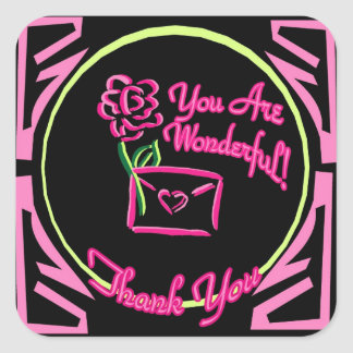 You Are Wonderful Thank You Sticker