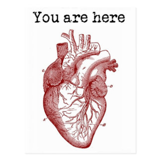 You areHere in my Heart Postcard