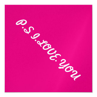 you awesome me lucky 13 cm x 13 cm square invitation card