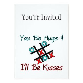 You Be Hugs I'll Be Kisses 5x7 Paper Invitation Card