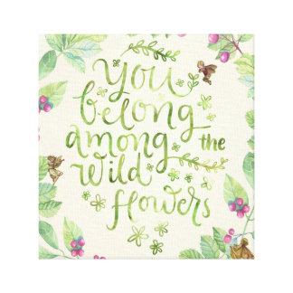 you belong among the wildflowers fairies print