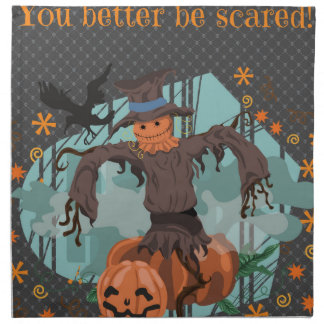 You Better Be Scared Halloween Napkin