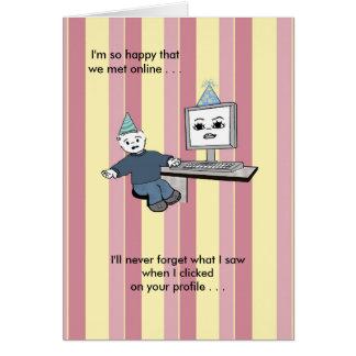 You Brighten Up My Screen - Birthday Greeting Card