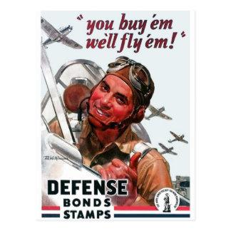 """""""You Buy 'em, we'll fly 'em!"""" Postcard"""