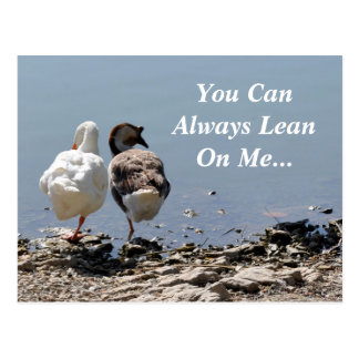 You Can Always Lean On Me Postcard