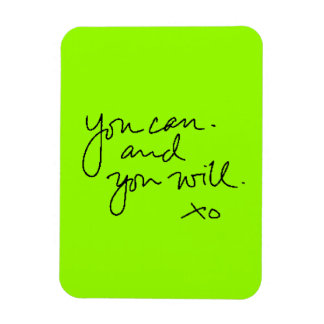 YOU CAN AND YOU WILL MOTIVATIONAL ENCOURAGING SAYI VINYL MAGNET