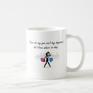 You can buy happiness basic white mug