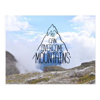 You Can Climb Mountains Postcard