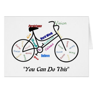 You can do This Motivational Bike, Bicycle Cycling Card