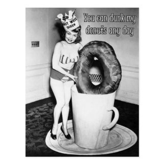 You Can Dunk My Doughnuts - Postcard