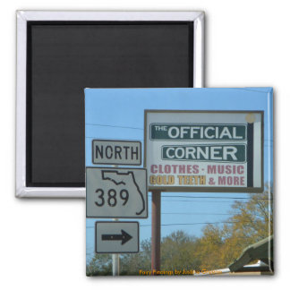 You can find anything in Florida! Square Magnet
