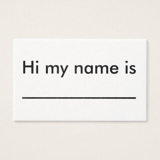 you can give this to anyone. business card