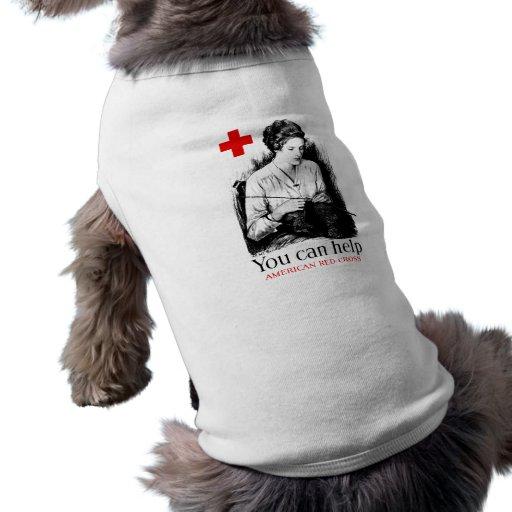 You Can Help American Red Cross Dog Tee Shirt