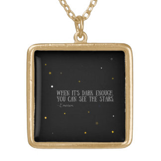 You can see the stars Emerson quote Gold Plated Necklace