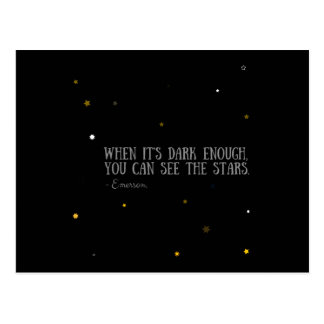 You can see the stars Emerson quote Postcard