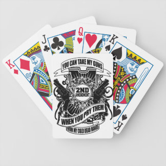 You can take my Guns Bicycle Playing Cards
