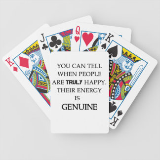 you can tell when people are truly happy. their en bicycle playing cards