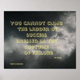 YOU CANNOT CLIMB THE LADDER ZIGLER POSTER