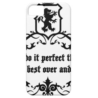 You Cannot Do It Perfect Medieval quote Barely There iPhone 5 Case