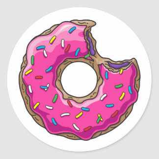 You can't buy happiness but donut classic round sticker