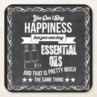 You can't buy Happiness but you can buy EO! Square Paper Coaster