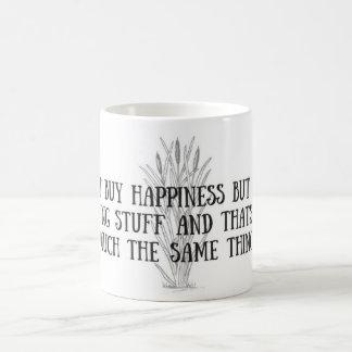 """""""You cant buy happiness"""" fishing mug"""