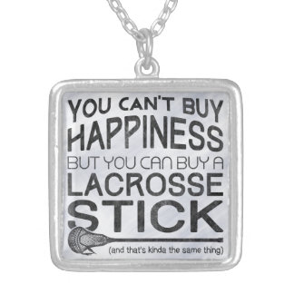 You Can't Buy Happiness, Lacrosse Square Pendant Necklace